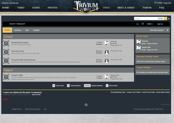 Triviumworld Forum